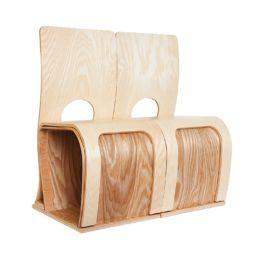 panchine in legno con schienale